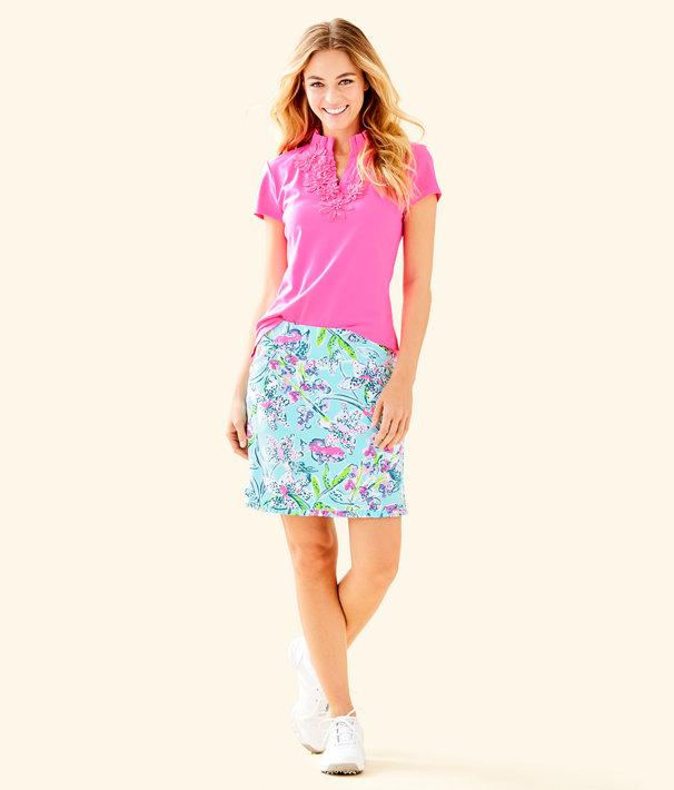152016ccc4e0e3 UPF 50+ Luxletic Frida Flower Polo Top   000934   Lilly Pulitzer