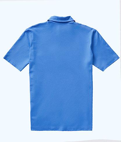 Mens Polo Shirt, Coastal Blue, large 1