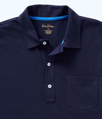 Mens Polo Shirt, True Navy, large