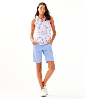 UPF 50+ Luxletic Martina Polo Top, Pink Tropics Tint Talk Birdie To Me, large 2