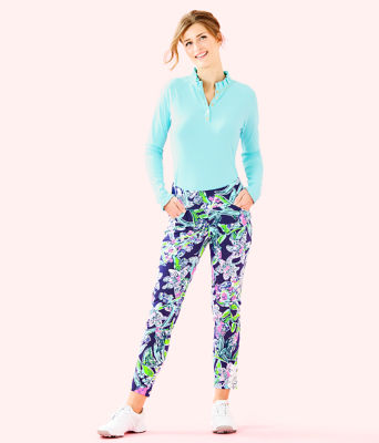 "UPF 50+ Luxletic 28"" Corso Golf Pant, Bright Navy Sway This Way, large"