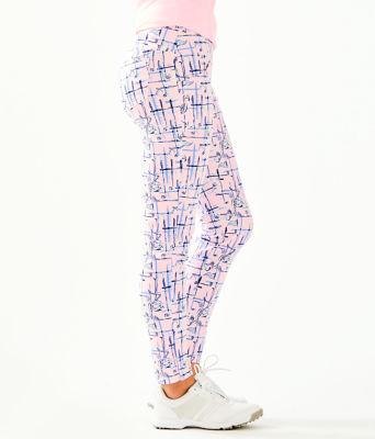 "UPF 50+ Luxletic 28"" Corso Golf Pant, Pink Tropics Tint Talk Birdie To Me, large"