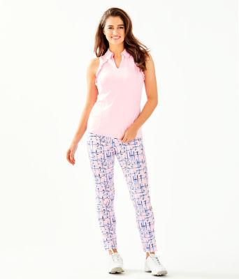 "UPF 50+ Luxletic 28"" Corso Golf Pant, Pink Tropics Tint Talk Birdie To Me, large 3"