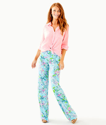 Sea View Button Down Top, Pink Tropics Tint, large 2