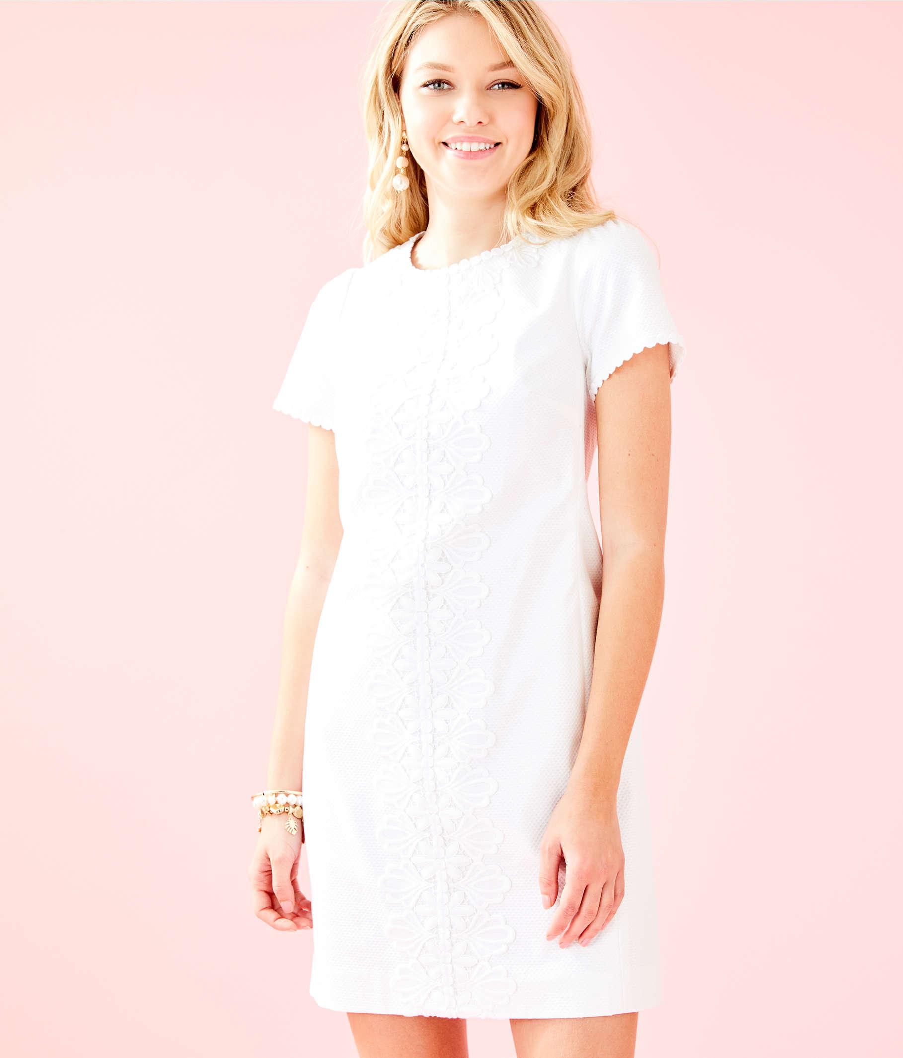 a6edab5ae ... Maisie Stretch Shift Dress, Resort White, large ...