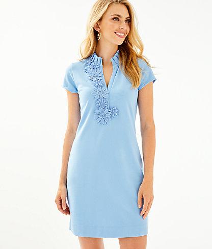 Clary Polo Dress, Blue Peri, large 0