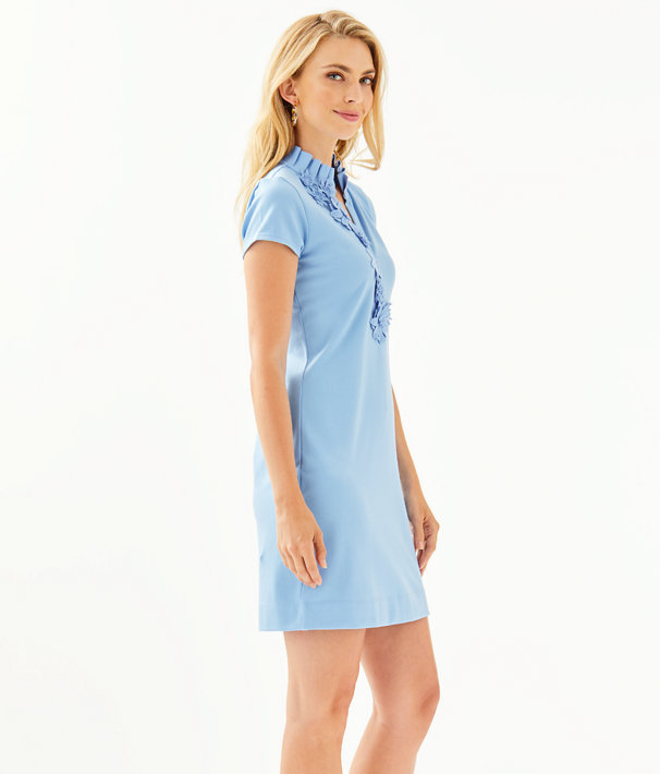 Clary Polo Dress, Blue Peri, large