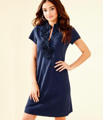 Clary Polo Dress, True Navy, large 0