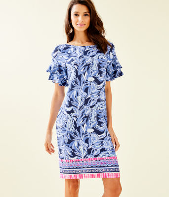 Dianna Dress, High Tide Navy Youre The Zest Engineered Dress, large