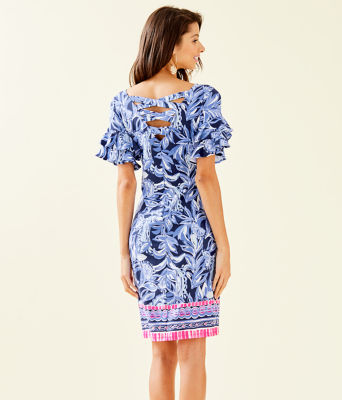 Dianna Dress, High Tide Navy Youre The Zest Engineered Dress, large 1