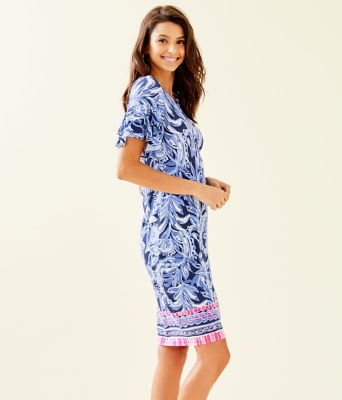 Dianna Dress, High Tide Navy Youre The Zest Engineered Dress, large 2