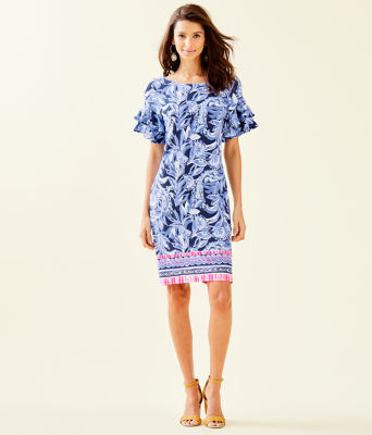 Dianna Dress, High Tide Navy Youre The Zest Engineered Dress, large 3