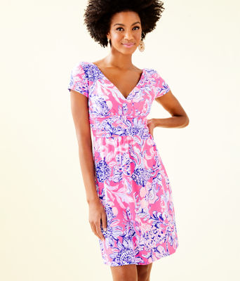 Winslow Dress, Pink Tropics Sun Drenched, large 0