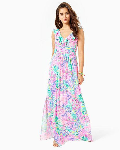 Lilly Pulitzer Women's Mirella Printed Maxi Dress In Neutral
