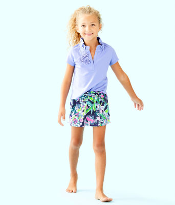 Girls Thierry Polo Top, Blue Hyacinth, large