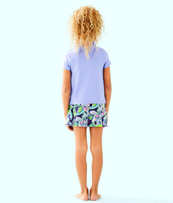 Girls Thierry Polo Top, Blue Hyacinth, large 1