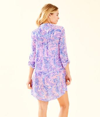 Natalie Shirtdress Cover-Up, Coastal Blue Maybe Gator, large 1