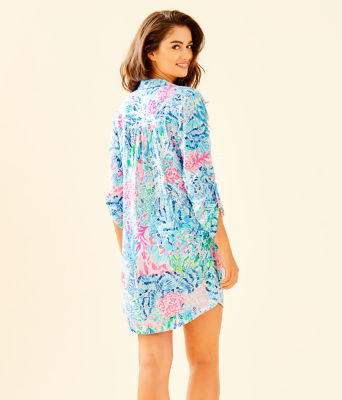 Natalie Shirtdress Cover-Up, Multi Sink Or Swim, large 1