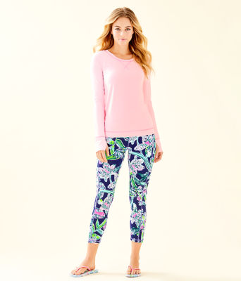 "UPF 50+ Luxletic 24"" Weekender Midi Legging, Bright Navy Sway This Way, large"