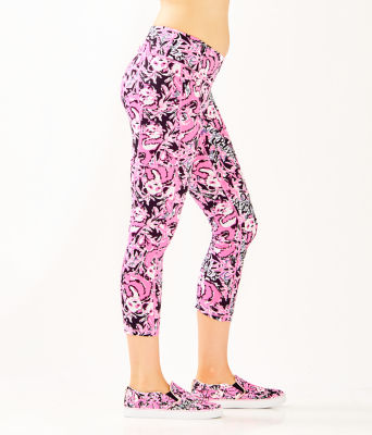 "UPF 50+ Luxletic 24"" Weekender Midi Legging, Hibiscus Pink Hangin With My Boo, large 2"