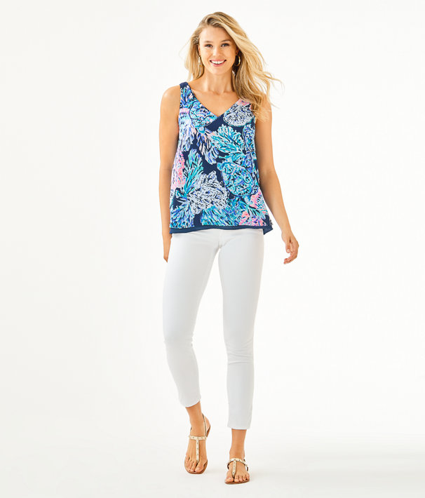 Florin Reversible Tank Top, High Tide Navy Party In Paradise, large