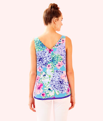 Florin Reversible Sleeveless V-Neck Top, Multi Special Delivery, large 1
