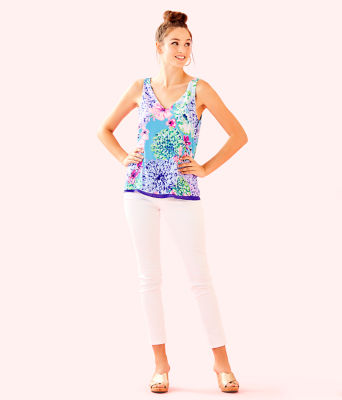 Florin Reversible Sleeveless V-Neck Top, Multi Special Delivery, large 2