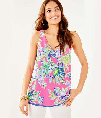 Florin Reversible Sleeveless V-Neck Top, Multi Squeeze The Day, large 0