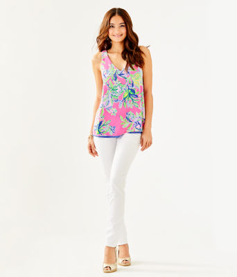 Florin Reversible Sleeveless V-Neck Top, Multi Squeeze The Day, large