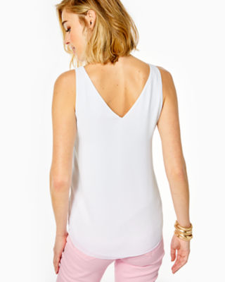 Florin Reversible Sleeveless V-Neck Top, Resort White, large