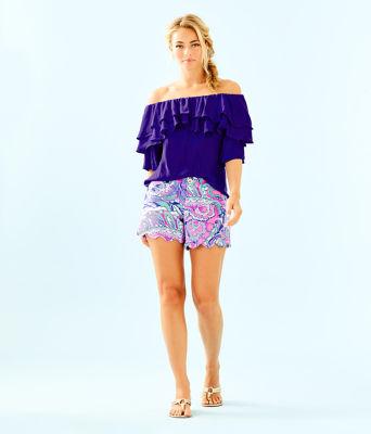 "5"" Buttercup Knit Short, Pink Tropics Mermaids Call, large 3"