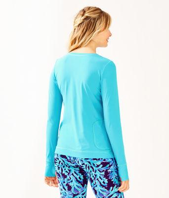 UPF 50+ Luxletic Meryl Nylon Renay Sunguard, Amalfi Blue, large 1