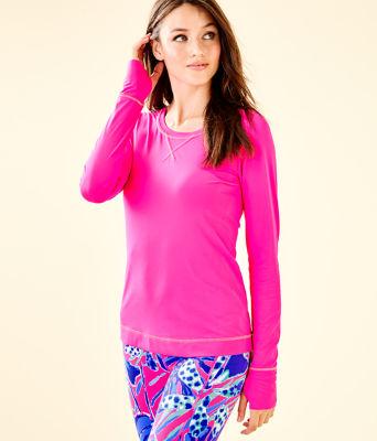 UPF 50+ Luxletic Meryl Nylon Renay Sunguard, Bougainvillea Pink, large
