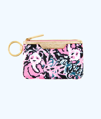 Key ID Card Case, Hibiscus Pink Hangin With My Boo Accessories Small, large
