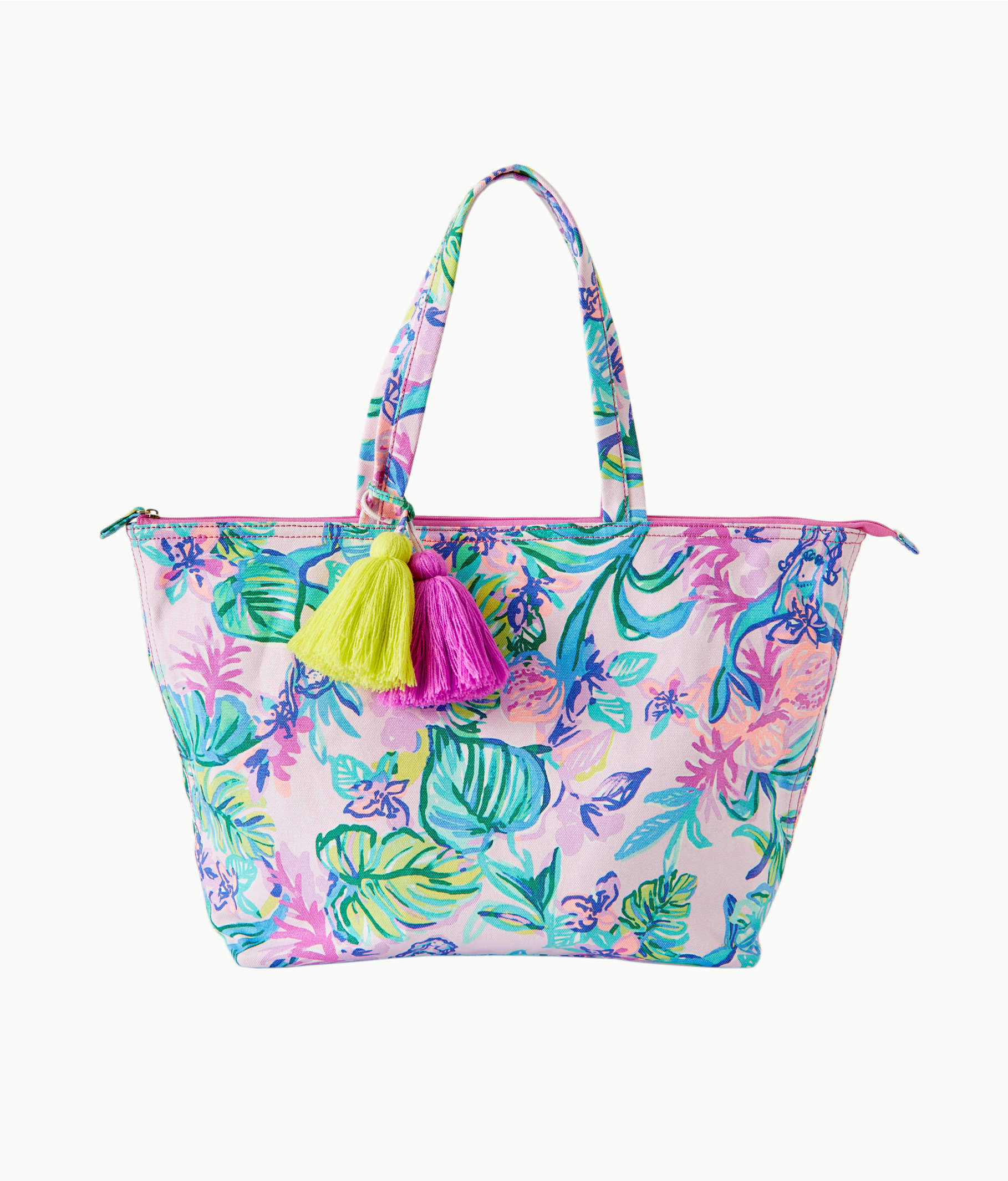 28ca99282 Palm Beach Zip Up Tote, Amethyst Tint Mermaid In The Shade, large Zoom