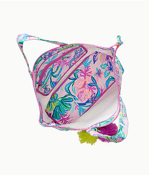 Palm Beach Zip Up Tote, Amethyst Tint Mermaid In The Shade, large