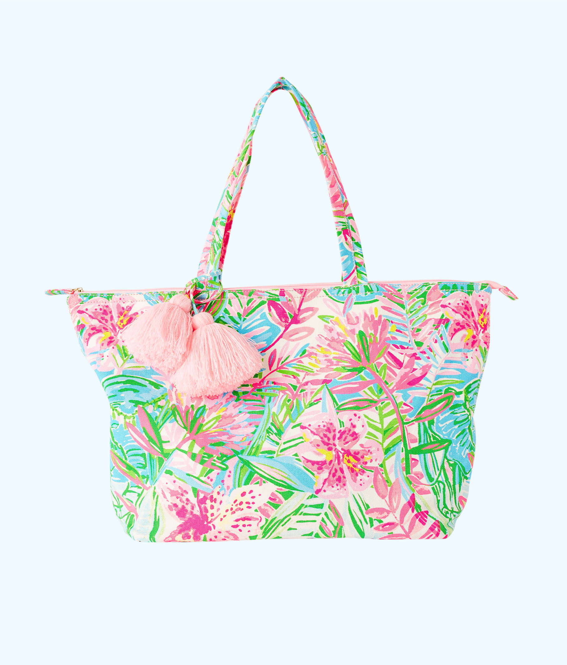 2e9449cb3 Palm Beach Zip Up Tote, Multi Pop Up Lilly Of The Jungle, large ...