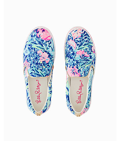 Julie Sneaker, Lapis Lazuli Beach Club Blooms Accessories Small, large 1