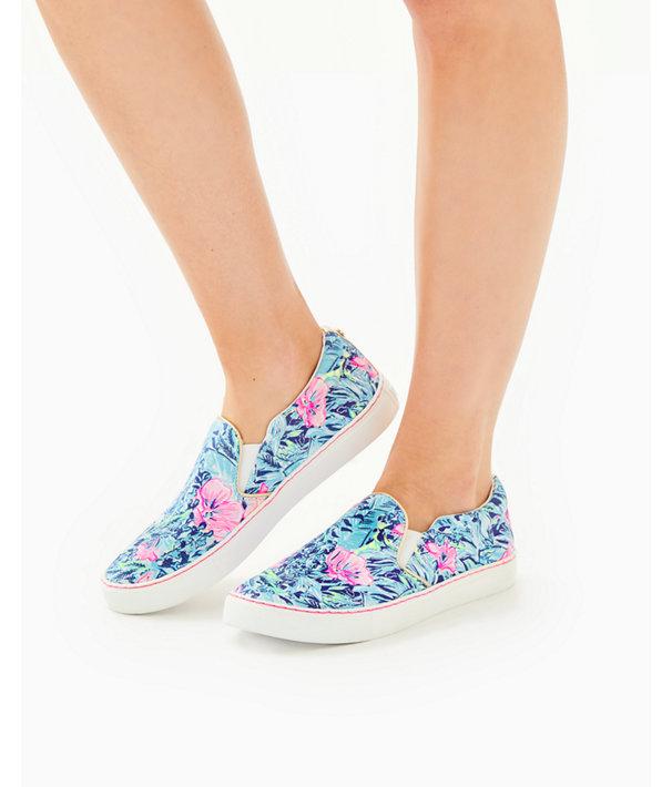 Julie Sneaker, Lapis Lazuli Beach Club Blooms Accessories Small, large