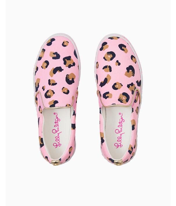 Julie Sneaker, Pink Blossom Seeing Spots, large