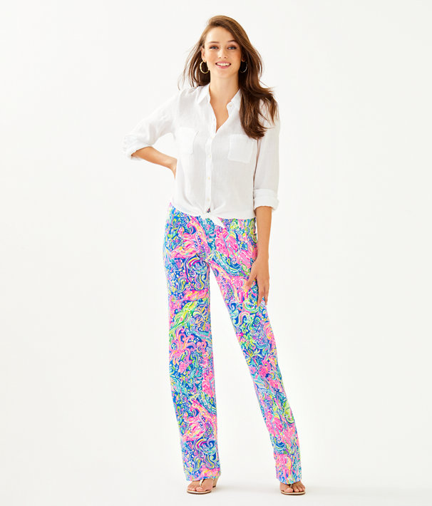 "33"" Georgia May Palazzo Pant, Multi Pop Up 60 Animals, large"
