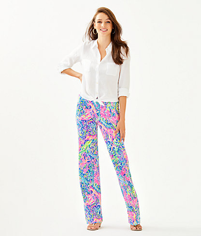 "33"" Georgia May Palazzo Pant, Multi Pop Up 60 Animals, large 3"
