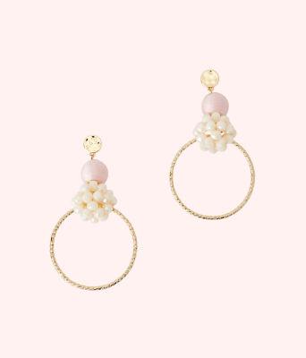 Caliente Statement Hoop Earrings, Pink Tropics Tint, large
