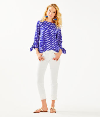 Langston Top, Royal Purple Spotted, large 2