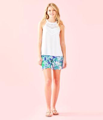 Dawn Halter Top, Resort White, large 3
