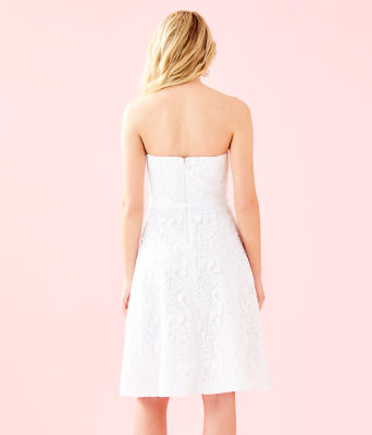 Sienna Dress, Resort White Floral Lace, large 1