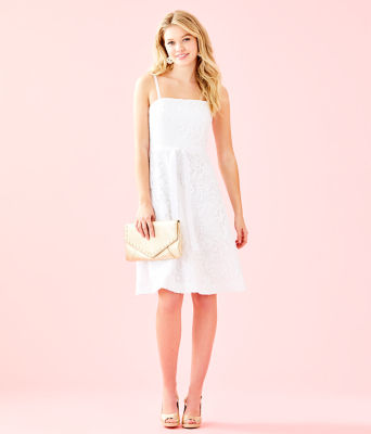 Sienna Dress, Resort White Floral Lace, large 3