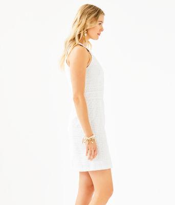 Ashlyn Shift Dress, Resort White Striped Eyelet, large 2