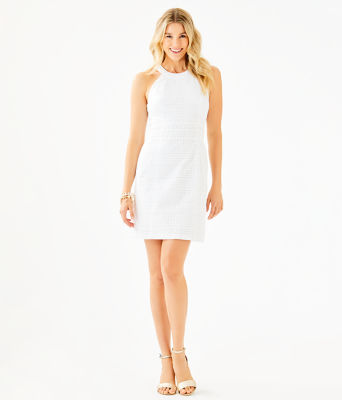Ashlyn Shift Dress, Resort White Striped Eyelet, large 3