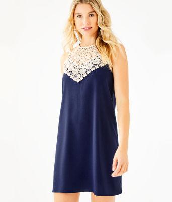 Nala Soft Shift Dress, True Navy, large